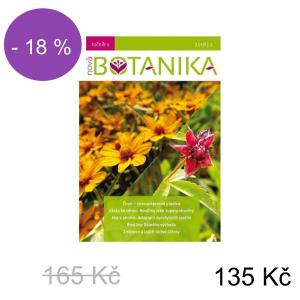 Časopis Nová Botanika - číslo 2020/2 nebo 2020/1 nebo 2018/2 v tištěné i e-verzi - Číslo Nové Botaniky: 2018/2 - 165 Kč